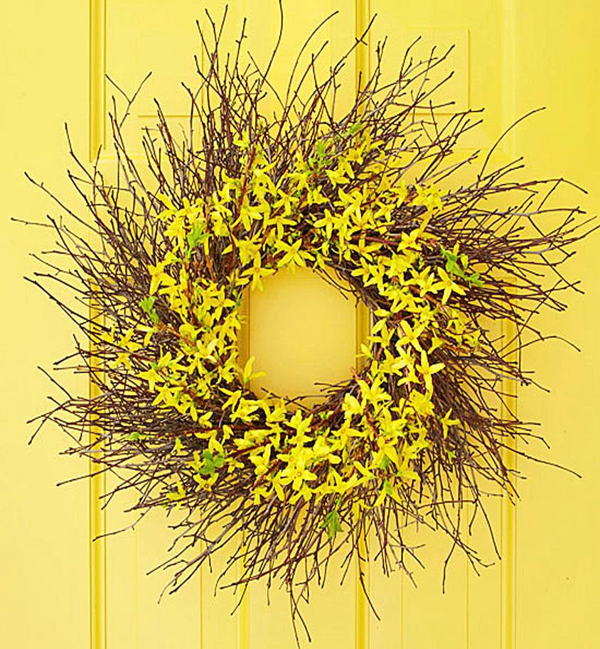 Blooming twig wreath