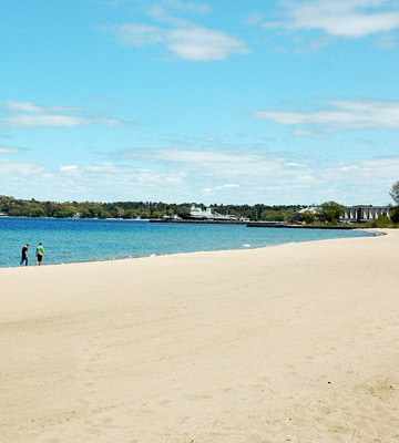 Things to Do in the Traverse area--Clinch Park Beach