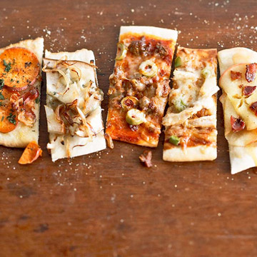 Pick-a-Topper Appetizer Flatbreads