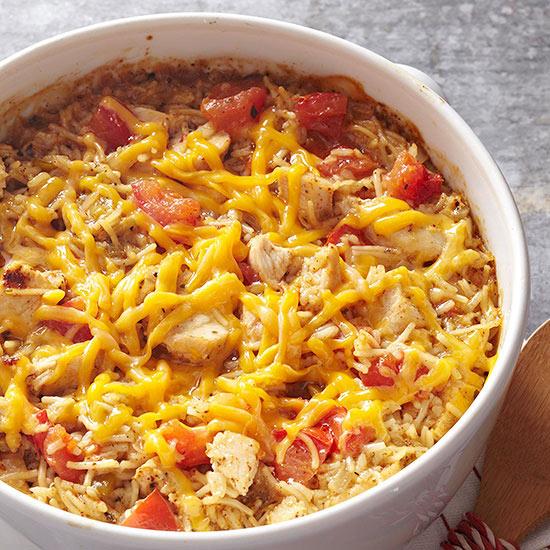 Tex-Mex Chicken and Rice Casserole