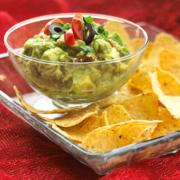 Guacamole and hummus appetizers