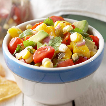 Fresh Corn and Avocado Pico de Gallo