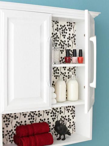 Peek-a-boo cabinet