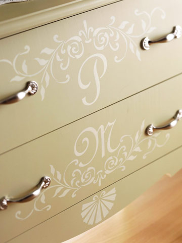 Install decorative knobs