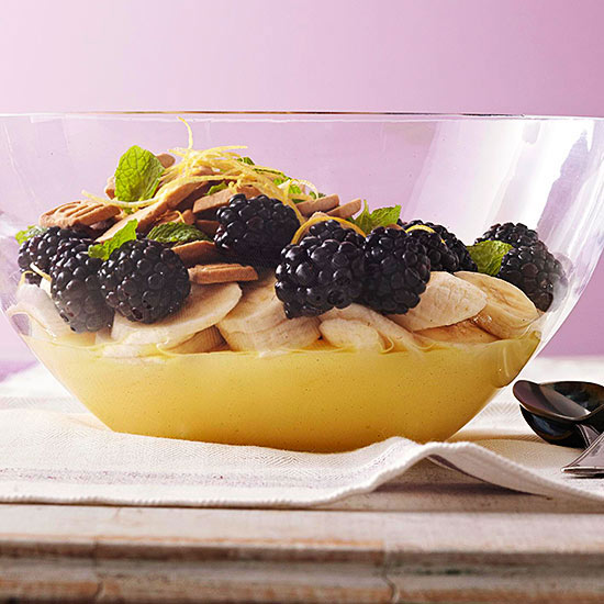 Quick and Easy Dessert Recipes—Blackberry Banana Trifle