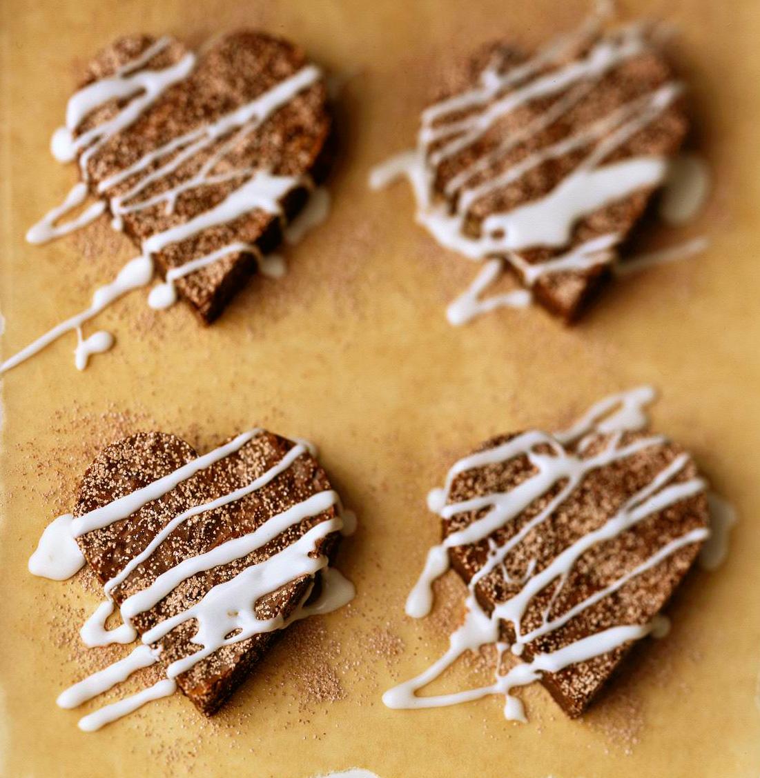 Fudge Brownie Hearts