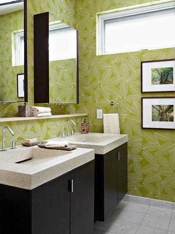 A green bath