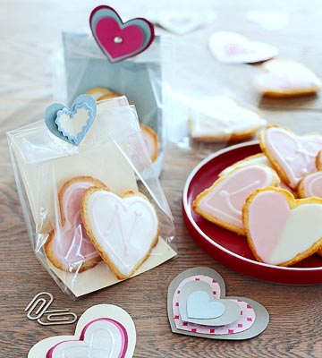 Puffed Heart Lemon Cookies