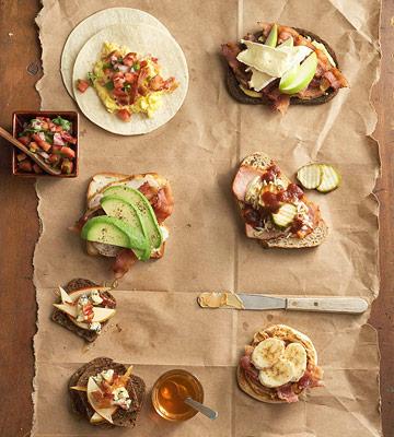 Easy bacon sandwiches