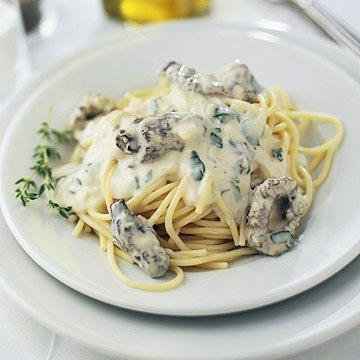 Morel Mushroom Cream Sauce with Pasta