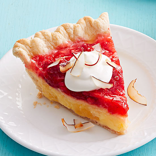 Tropical Strawberry Pie