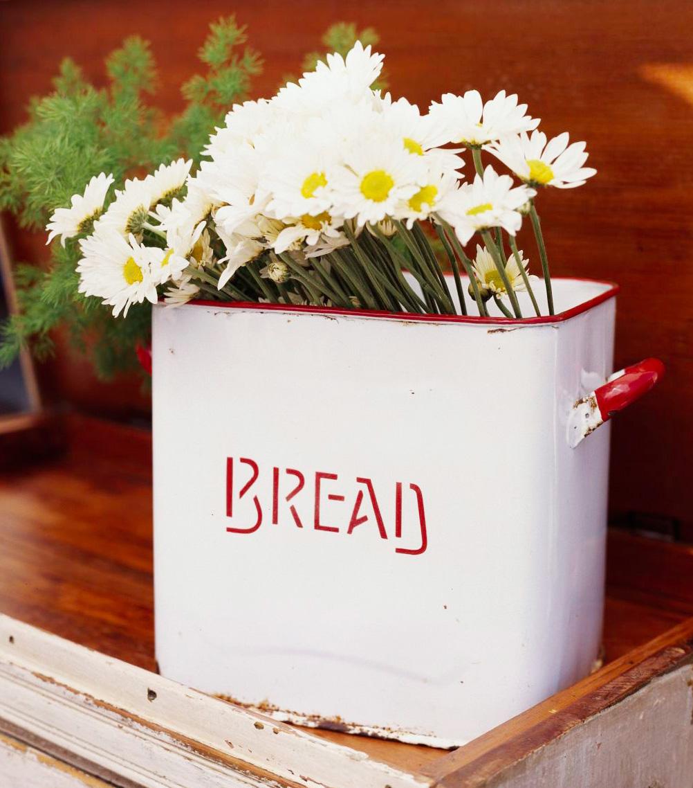 Bread box vase