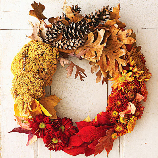 Fall color wreath