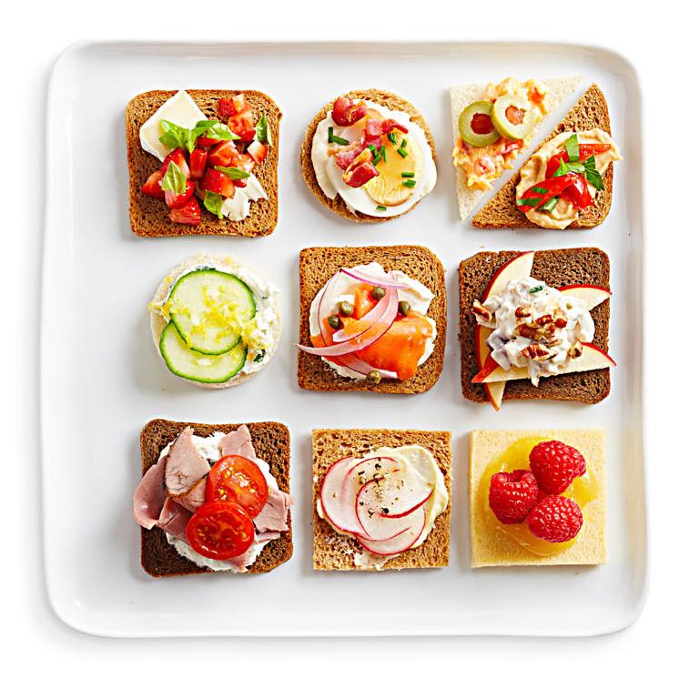 10 Open-Face Sandwiches