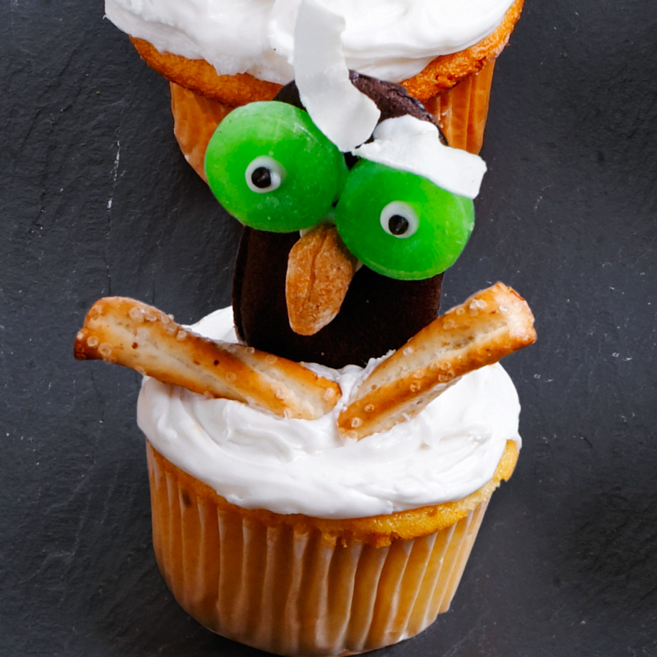 Flying Owl Cupcakes