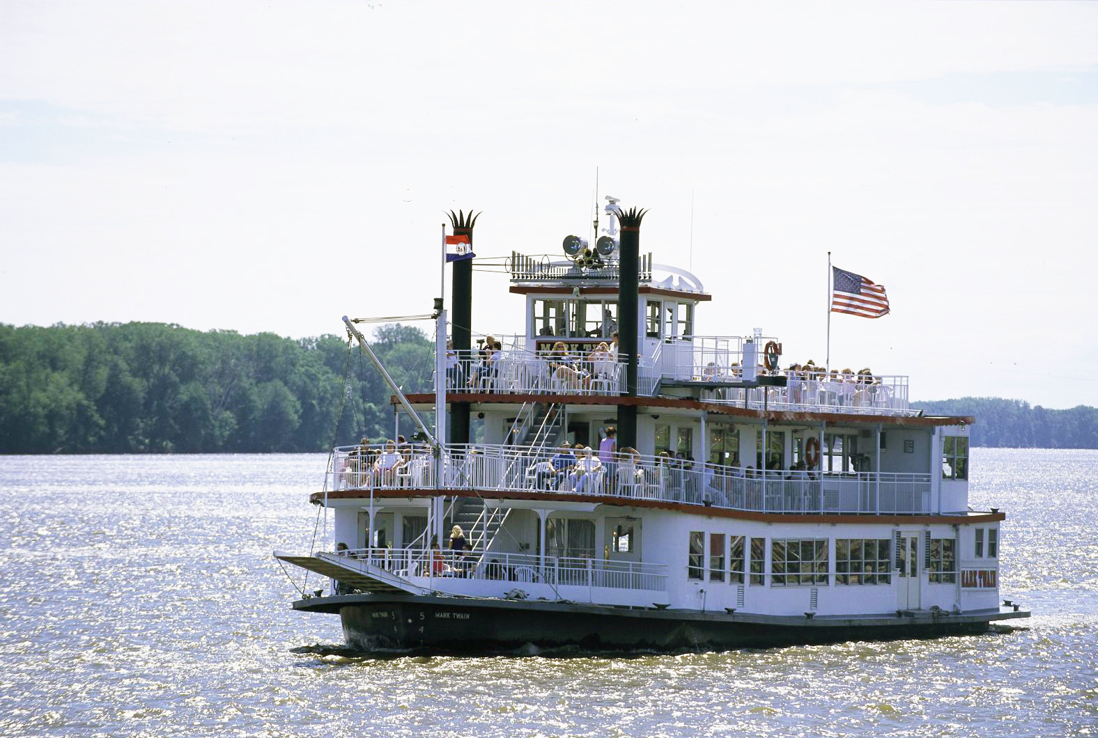 Old-fashioned riverboat