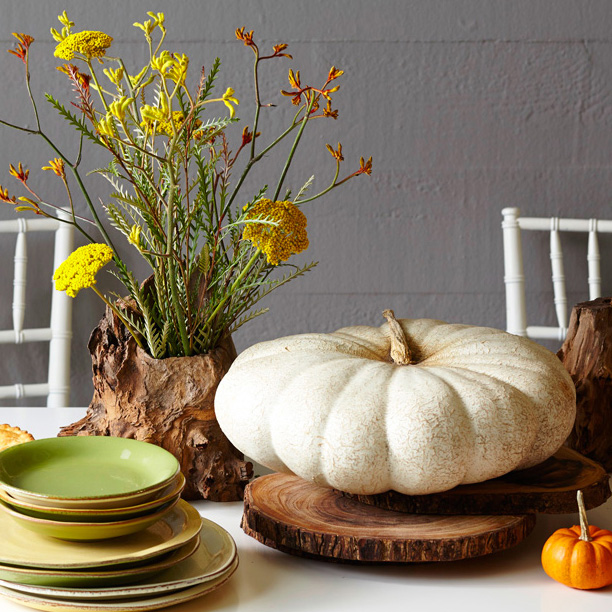 Natural beauty Thanksgiving centerpiece