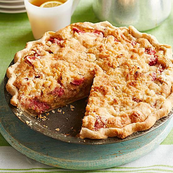 Peoria Rhubarb Cream Pie