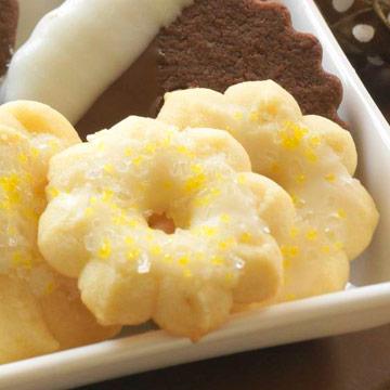 Lemony Spritz Cookies