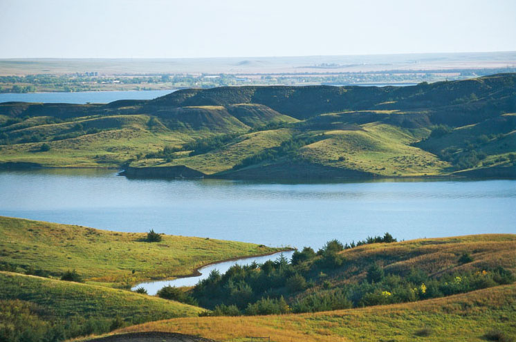 The Native American Scenic Byway near Chamberlain, South Dakota.