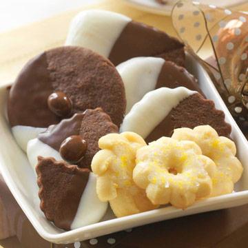 Chocolatey Shortbread Bites and Lemony Spritz Cookies
