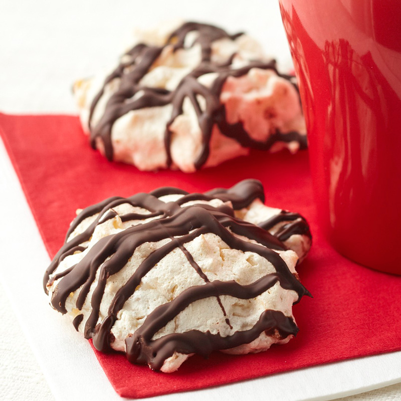 Chocolate-Dipped Coconut Macaroon Cookies