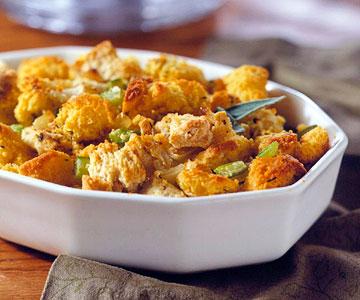 Sweet Potato and Corn Bread Stuffing