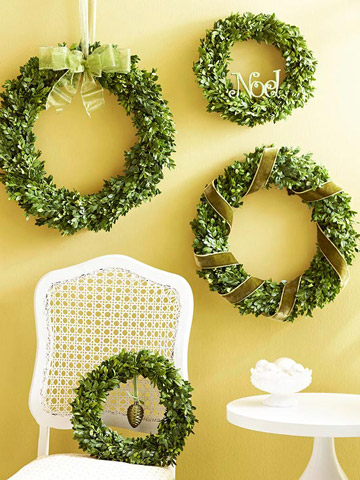 Wreaths of green