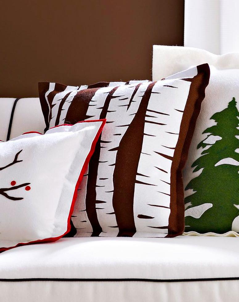 Birch trunks pillow