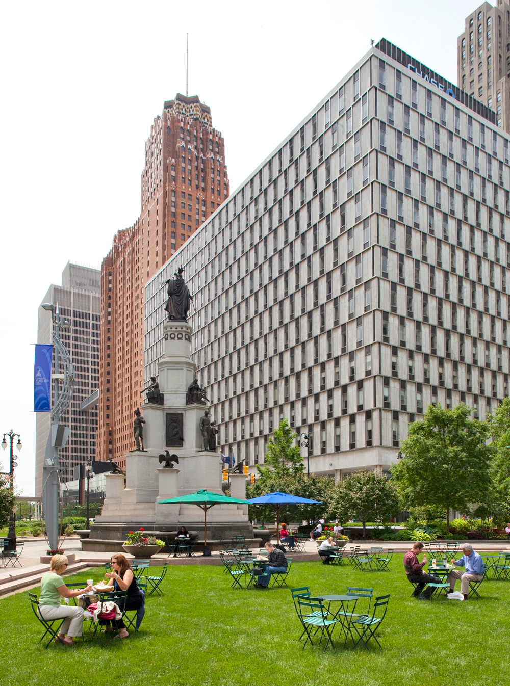 Things to Do in Detroit--Campus Martius Park