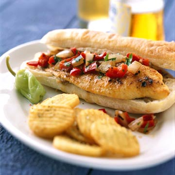 Grilled Catfish Sandwich