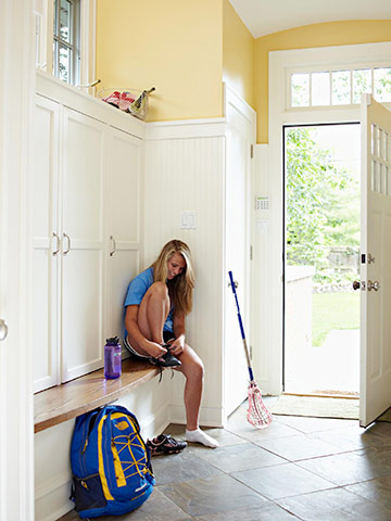 Dress up a mudroom