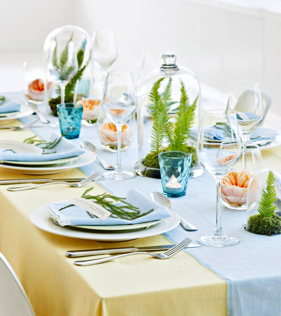 Light and airy spring centerpiece
