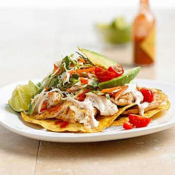 Fish Tostadas With Chili Lime Cream Midwest Living