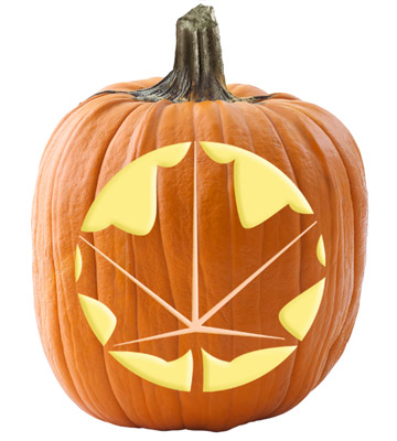 Maple leaf pumpkin stencil
