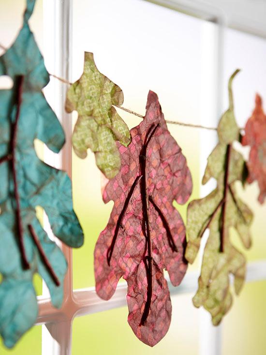 Leafy banner