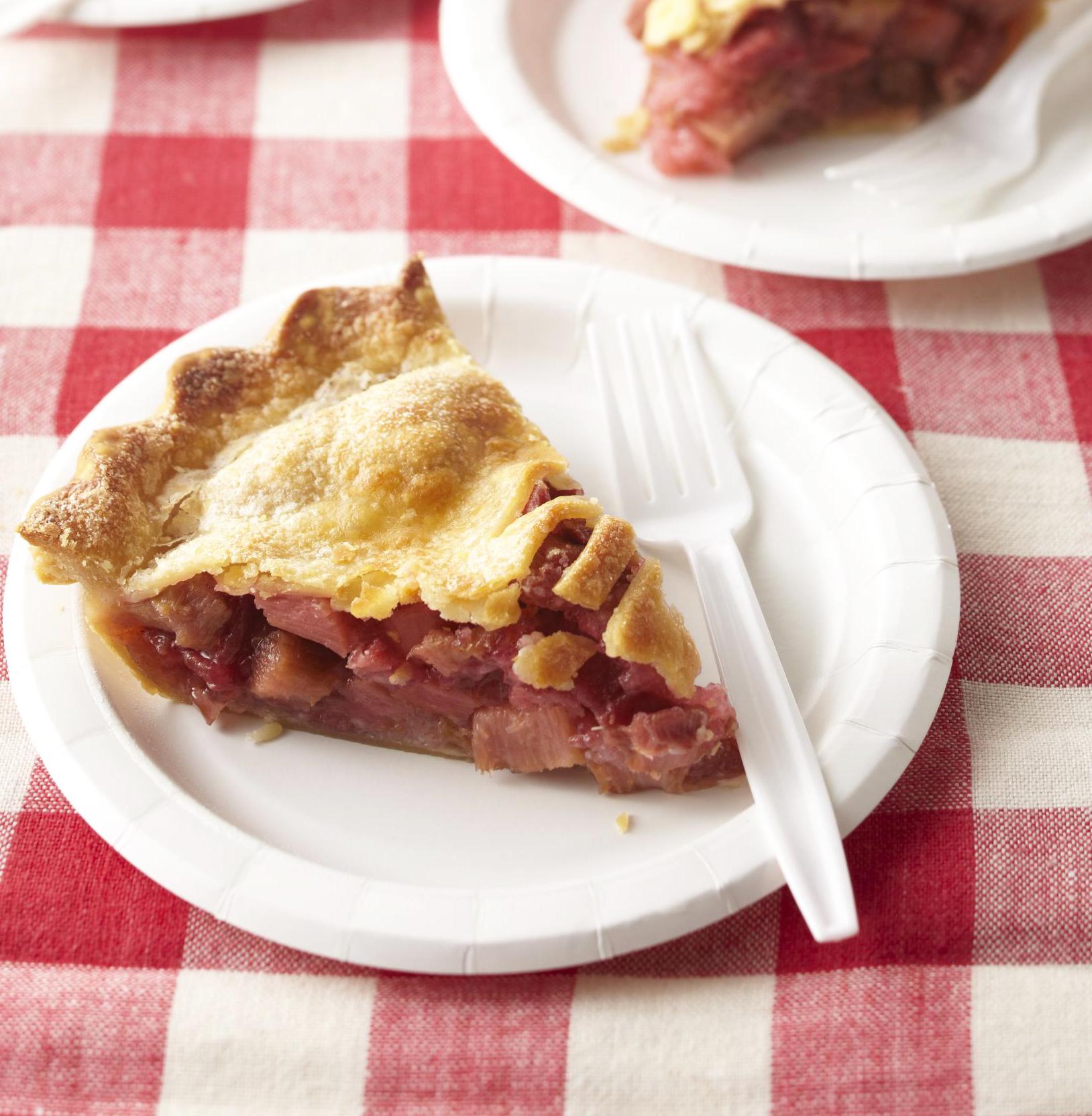 RAGBRAI rhubarb pie.