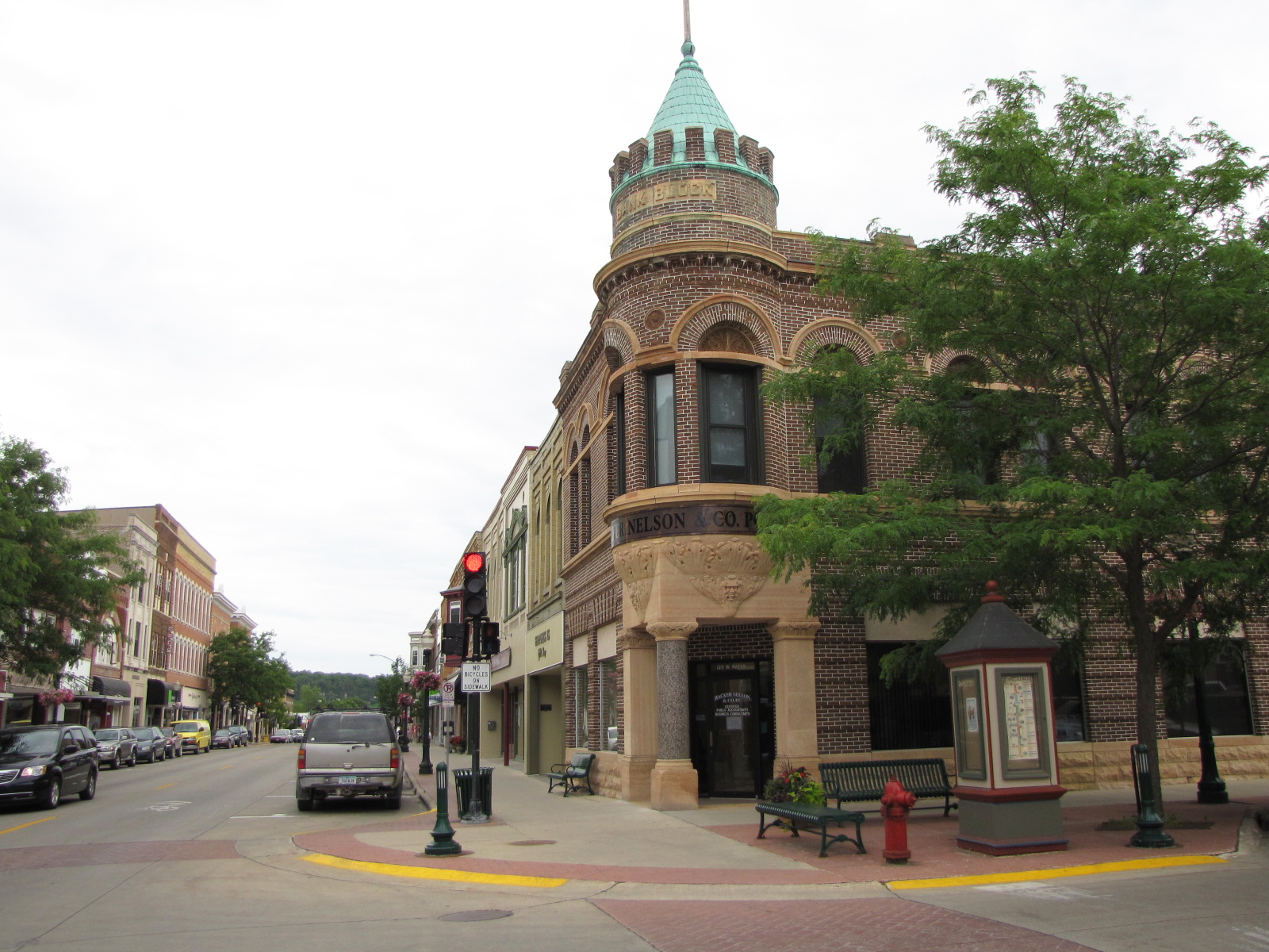 Downtown Decorah. Photo by Lisa Meyers McClintick.