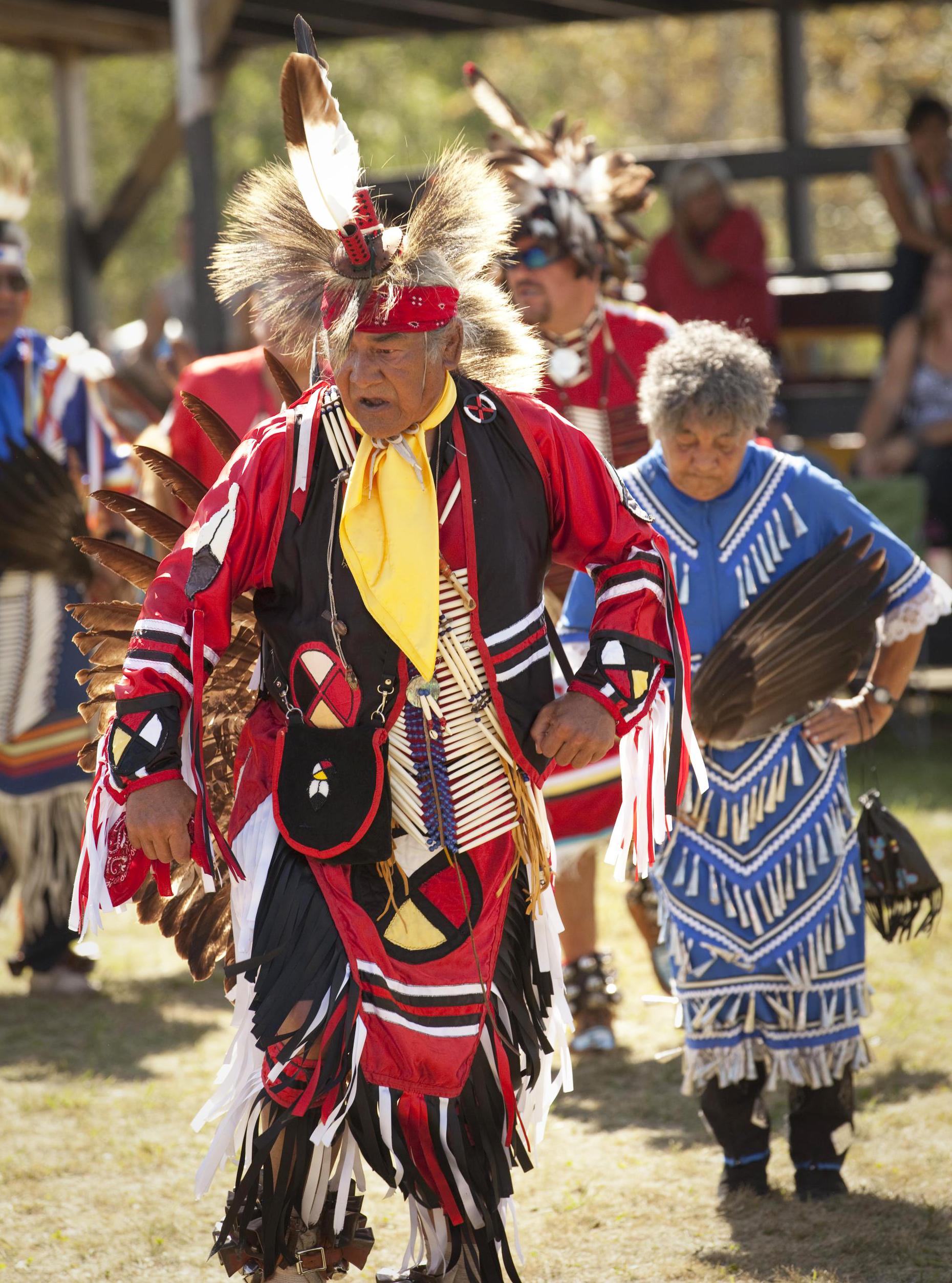 Ojibwe elders celebrate the harvest.