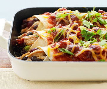 Turkey Cranberry Enchiladas