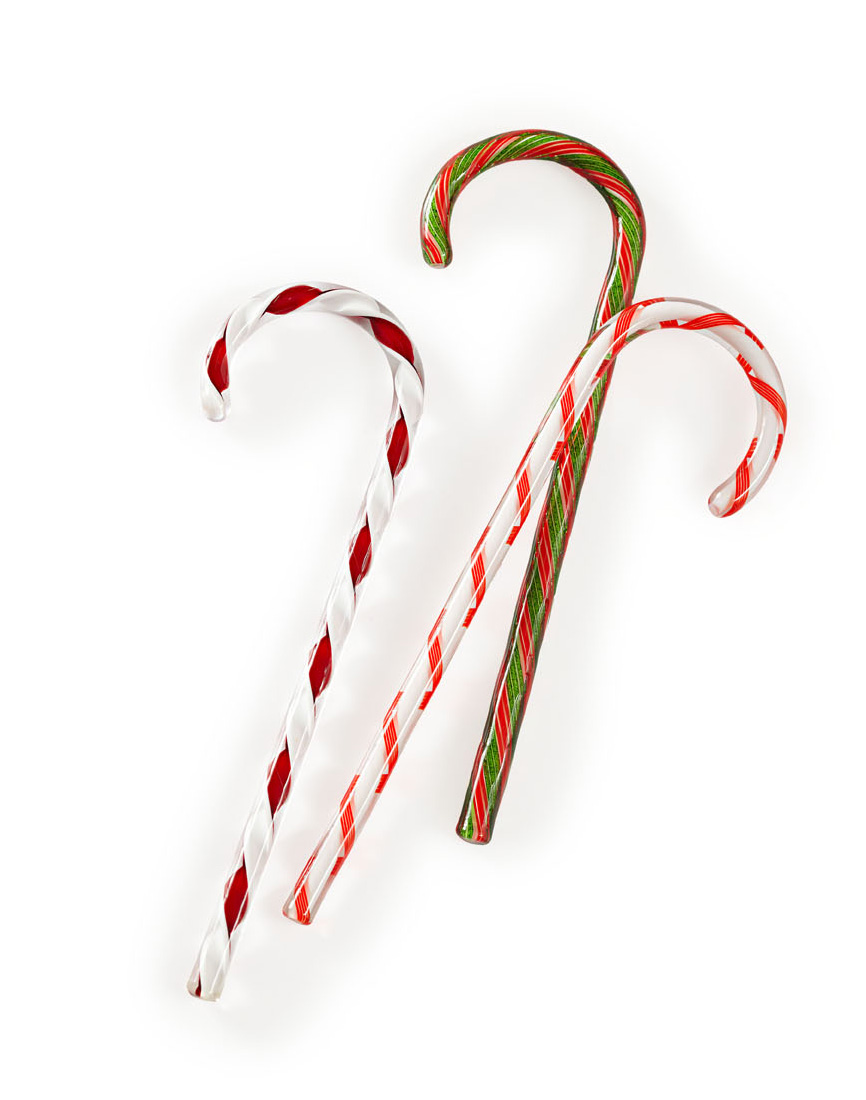 Tazza Glass candy canes