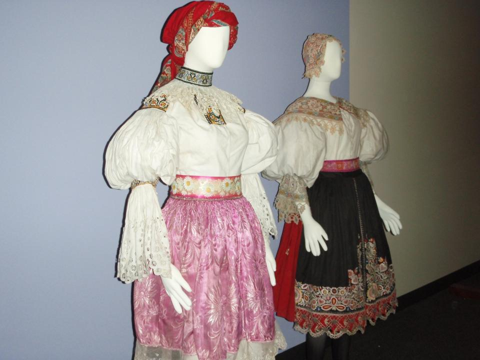 Olden dress on display at the National Czech & Slovak Museum & Library in Cedar Rapids, Iowa.