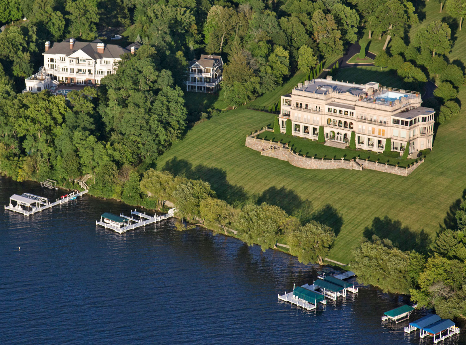 Lake Geneva Shore Path mansions