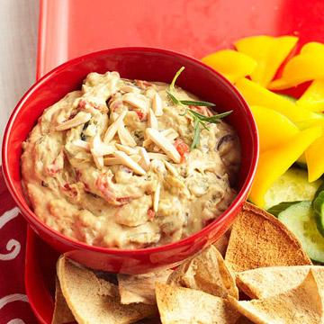 Roasted Vegetable Hummus Dip