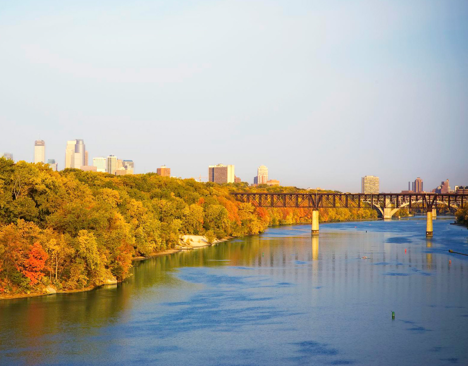 Fall color arrives as early as September along the Mississippi River in the Twin Cities.