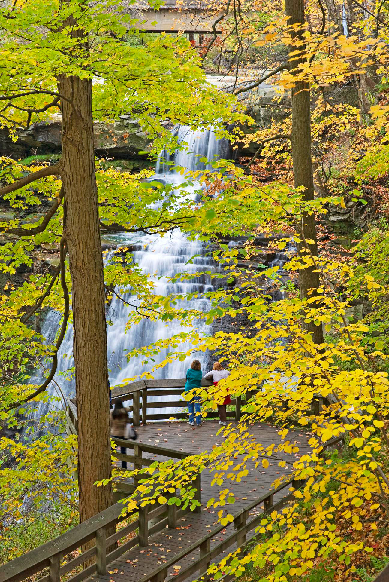 Brandywine Falls tumbles 60 feet in Cuyahoga Valley National Park.