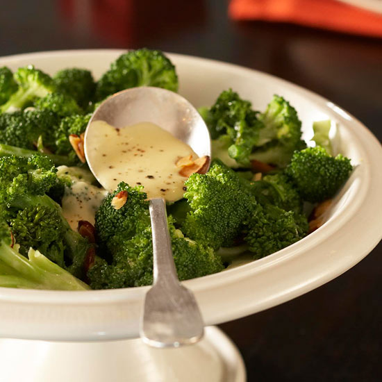 Broccoli with Orange-Cream Sauce
