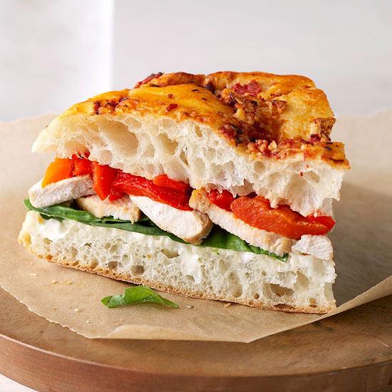 Chicken Focaccia Bread Sandwiches