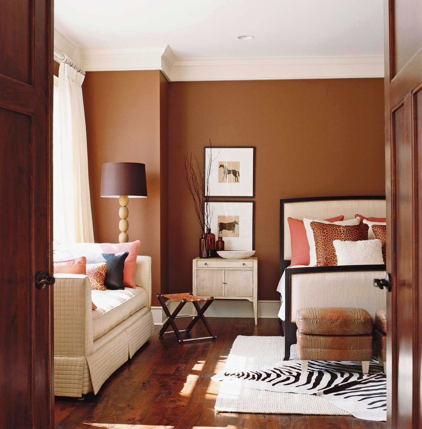 Comfort with warm brown
