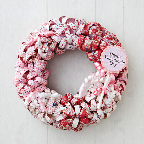 Paper curls wreath